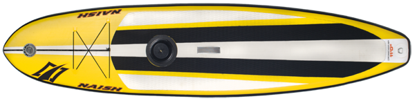 Ein Inflatable Hybridboard von Naish, das Crossover AIR 11.0