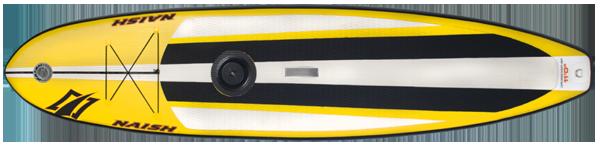 Ein Inflatable Hybridboard von Naish, das Crossover AIR 11.0